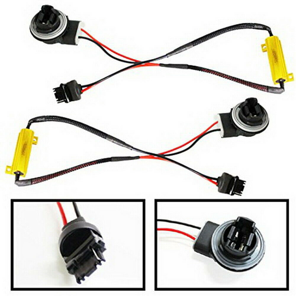 hight resolution of details about 3156 3056 hyper flash fix no error wiring adapters for led turn signal lights
