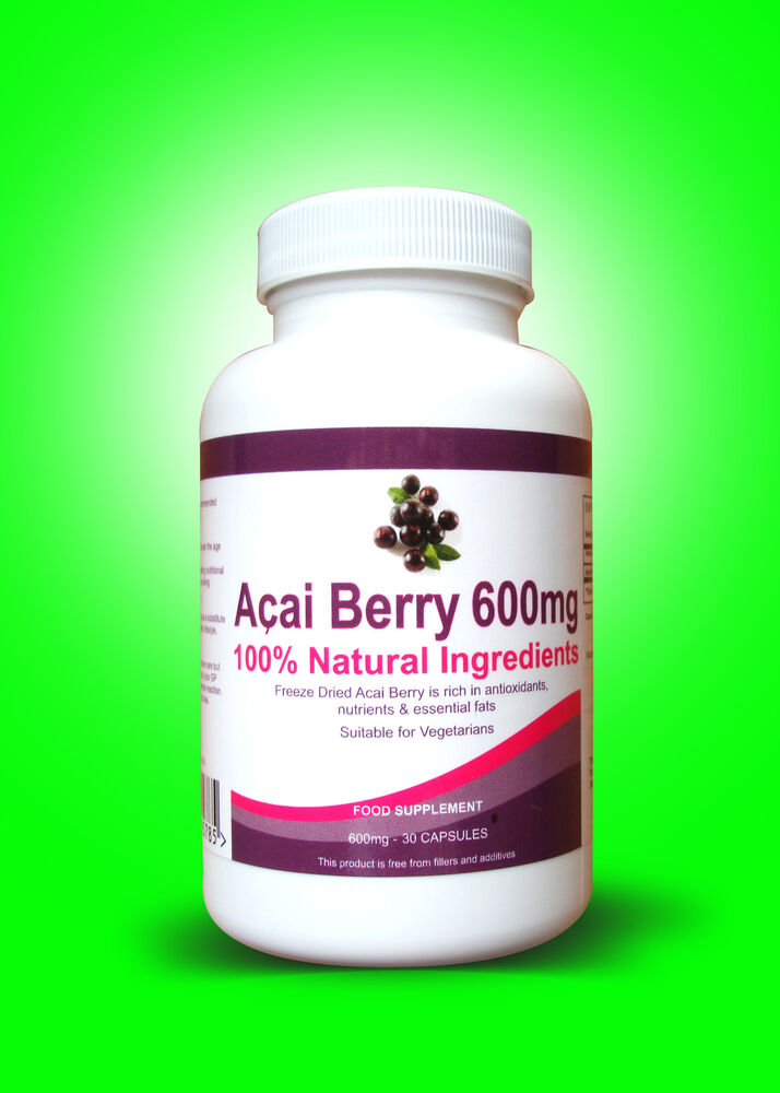 60 PURE ACAI BERRY Extreme Dietary Supplement Detox 100% ...