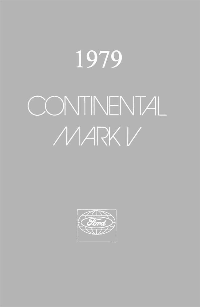 1979 Lincoln Mark V Owners Manual User Guide Reference