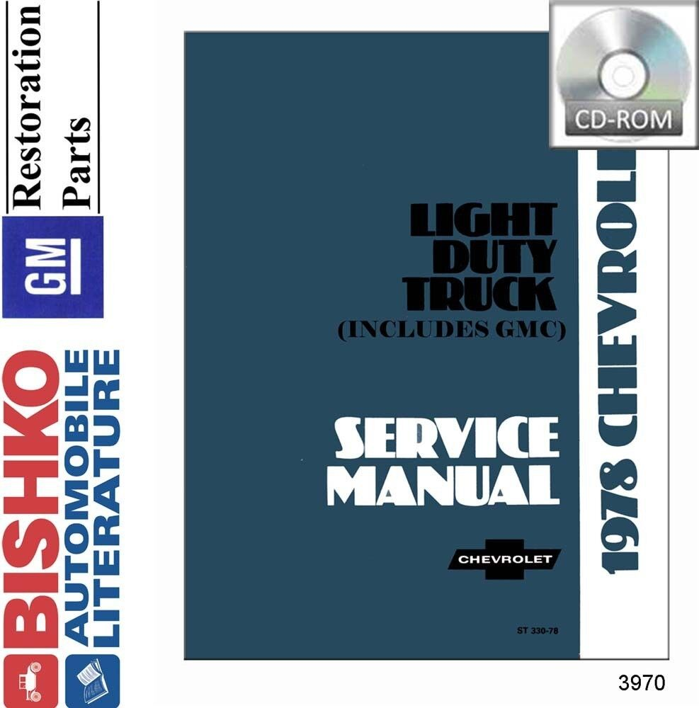 hight resolution of details about 1978 chevrolet gmc truck shop service repair manual cd engine drivetrain wiring