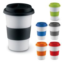 Ceramic Thermal Insulated Cup Coffee Tea Plastic Travel ...
