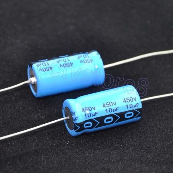 4pc 450v 10uf Axial Leaded Electrolytic Capacitor Audio Guitar Tube Amp