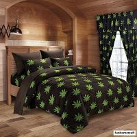 POT / MARIJUANA LEAF WEED 420 MICROFIBER BED SHEETS SUPER ...