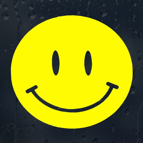 Jdm Smiley Face Yellow Funny Car Laptop Phone Decal Vinyl Sticker Colour Choice
