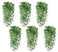 "6 Artificial 33"" Bamboo Bush IN Outdoor plant Grass Decor"