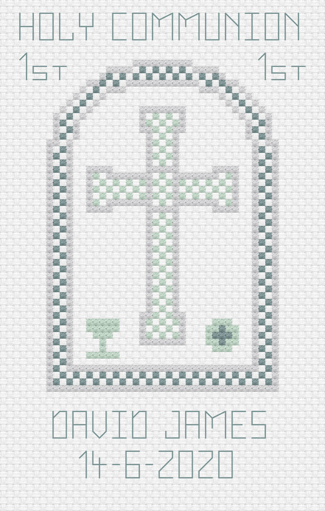 First Holy Communion Boy Cross Stitch Card Kit By