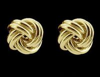 9ct Gold Plated On Solid Sterling Silver Knot Stud