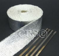 METALLIC FIBERGLASS MOTORCYCLE EXHAUST PIPE WRAP WIRE HOSE ...