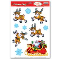 1 Sheet CHRISTMAS Party Decoration WINDOW CLINGS Cling ...