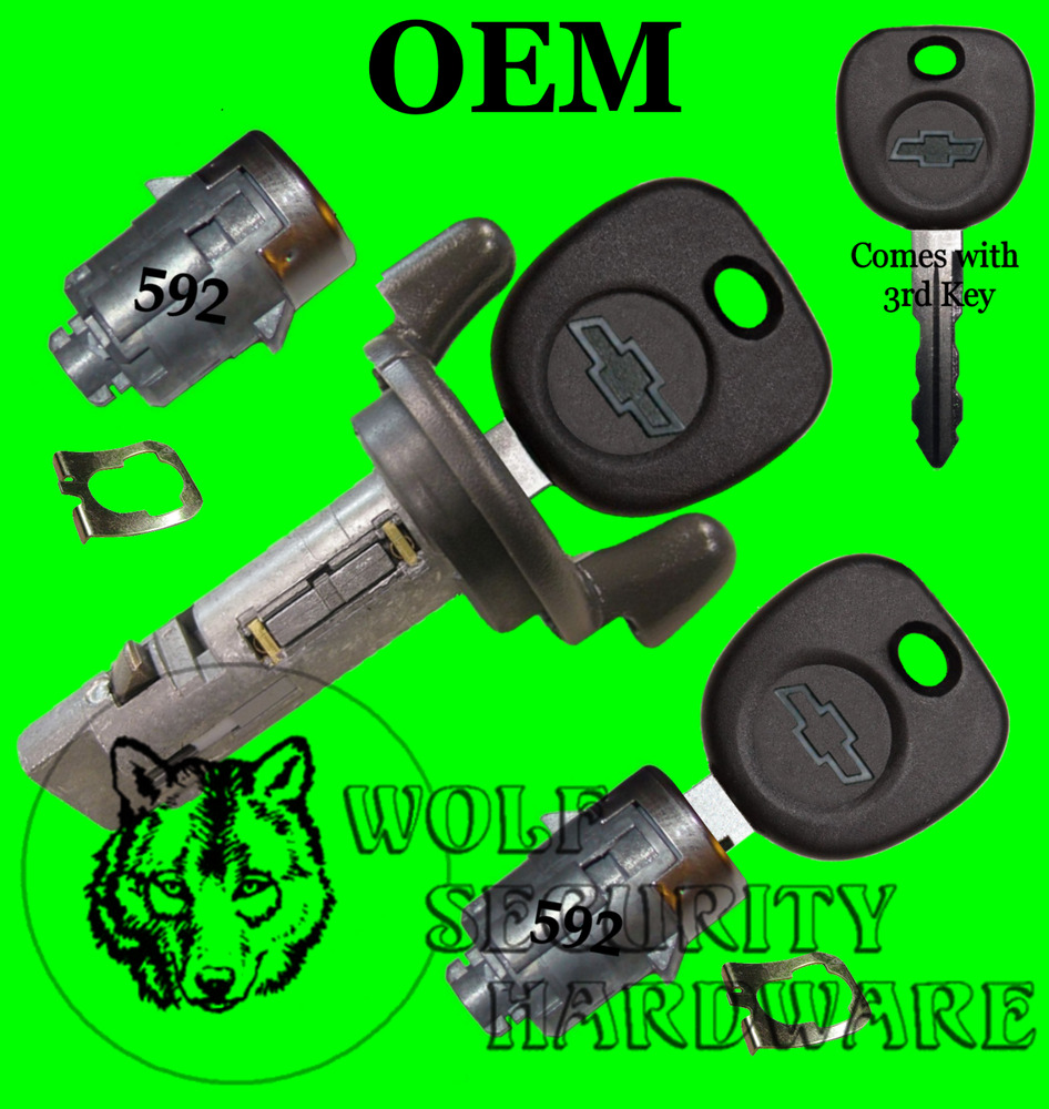 medium resolution of details about chevy silverado others 2001 ignition switch lock cylinder door lock set 2 keys
