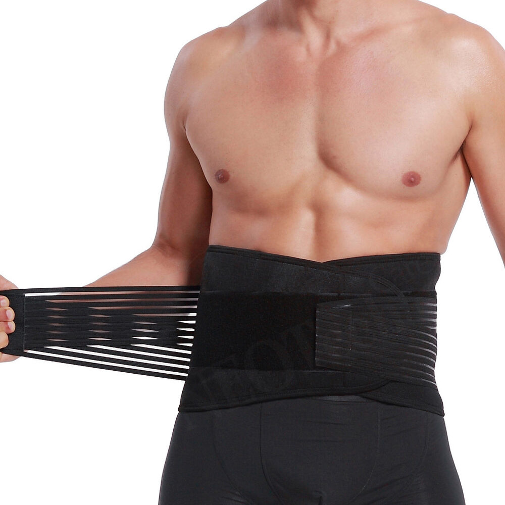 Brand New Deluxe Double Pull Lumbar Lower Back Support