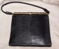 VINTAGE 1960s AFTER FIVE 5 Made in USA Black Leather ...