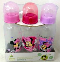 New Disney Baby Girl Bottles 9 ounce with Minnie Mouse