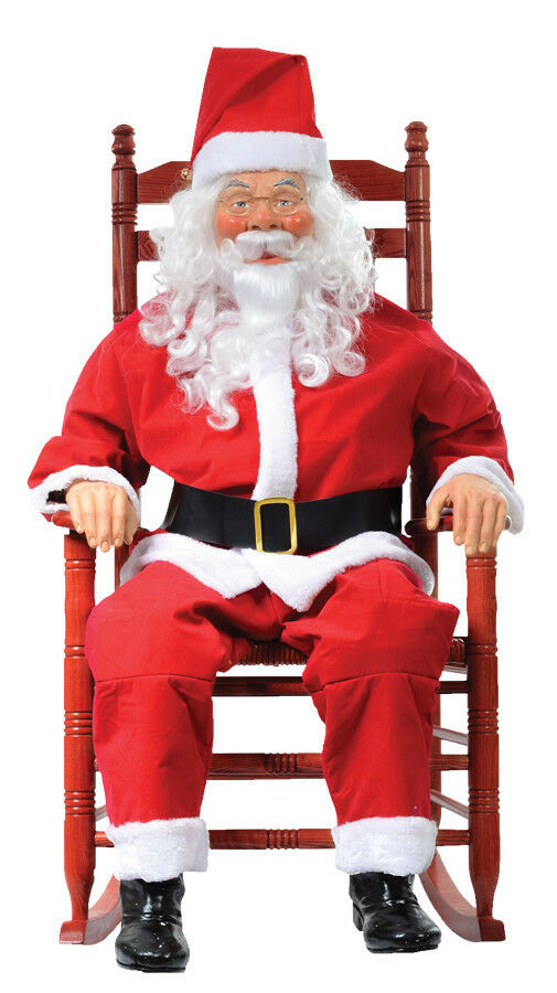 where to buy a rocking chair pottery barn baby christmas santa claus decoration prop lifesize talks and sound | ebay