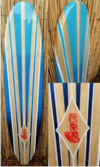 Tropical Decorative Wood Surfboard Wall Art for a Coastal ...