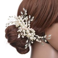 Bridal Hair Comb Pearl Crystal Bridesmaid Hair Clip ...