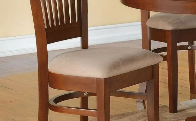 Set Of 4 Vancouver Kitchen Dining Chairs With Microfiber