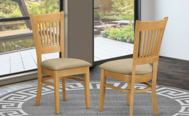 Set Of 2 Vancouver Dinette Kitchen Dining Chairs With