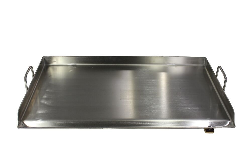 outdoor kitchen griddle stonewall coupons concord 32 x 17 stainless steel portable add on flat top ...