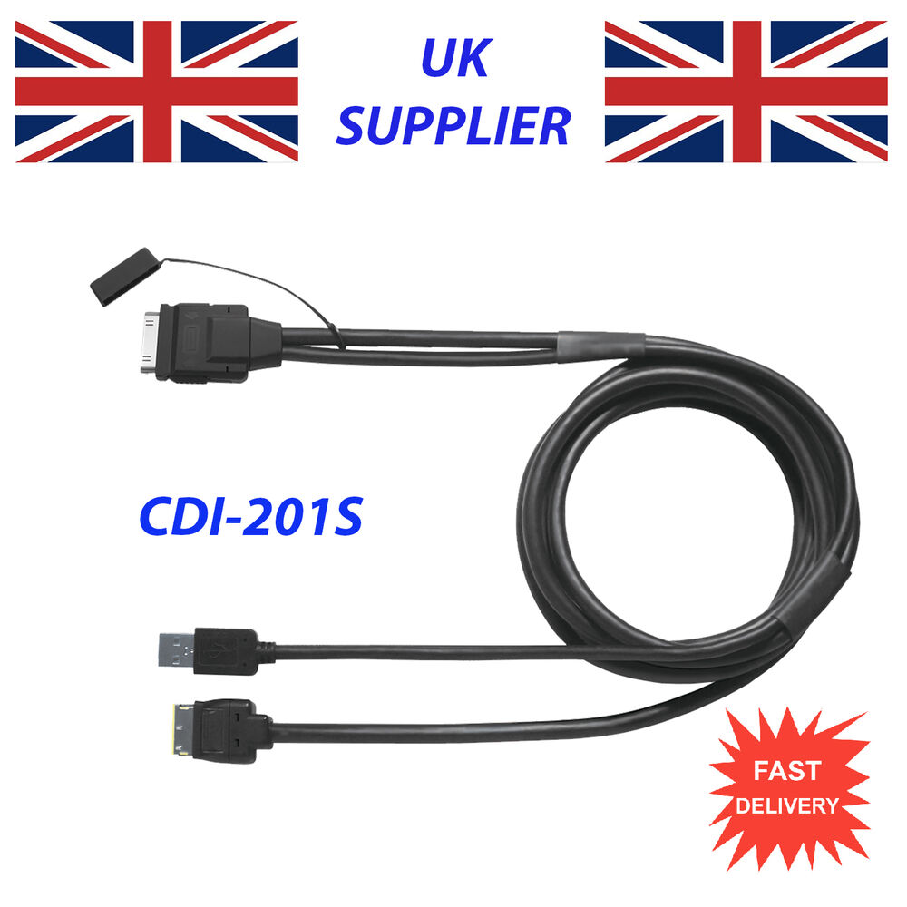 hight resolution of for pioneer cd iu201s iphone 3gs 4 4s ipod avh p8400bh cable replacement ebay