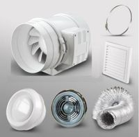 4 Bathroom Extractor Fan LED Light Kit Shower Room Loft