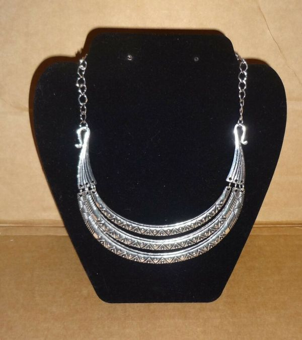 Silver Choker Necklace Costume Jewelry