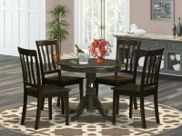 5PC DINETTE KITCHEN DINING SET TABLE WITH 4 WOOD SEAT ...