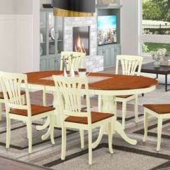 Oval Kitchen Table Sets How To Build A Island With Seating 7pc Dinette Dining Room Set W/ 6 Wood Seat ...