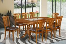 9-pc Oval Dinette Dining Room Set Table With 8 Leather Seat