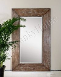 Extra Large Wall Mirror Oversize Rustic Wood HORCHOW Full ...