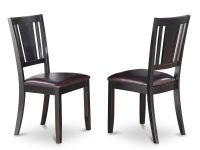 Set of 4 Dudley dinette kitchen dining chairs with leather ...