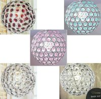 Crystal Ceiling Pendant Light Shade Chrome Ball Clear ...