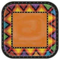"""8 Wild West Mexican Fiesta Festivity Party Large 9"""" Square ..."""