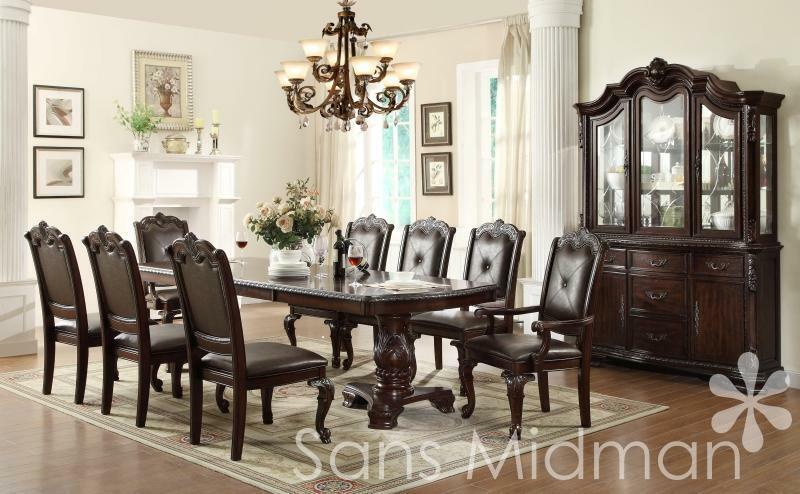 NEW! Kira 10 Pc Formal Dining Set, Table W/2 Leaves, 8