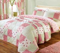Shabby Chic Patchwork Duvet Cover - Floral Pink & Green ...