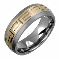 New 7.5mm 14K Yellow Gold Titanium Ring Wedding Band ...