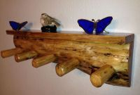 Rustic Shelf Coat Rack/ Cabin / Log Furniture / Wood Shelf