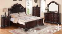 King Size 5 pc Sheridan Collection Traditional Cherry ...
