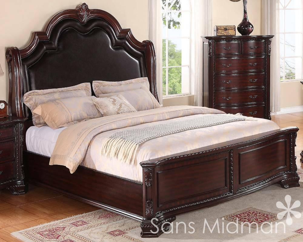 King Size 3 pc Sheridan Collection Traditional Cherry