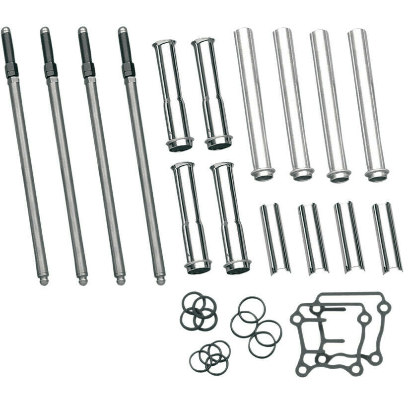 S&S Adjustable Pushrod Kit Twin Cam Pushrod Tube Kit for