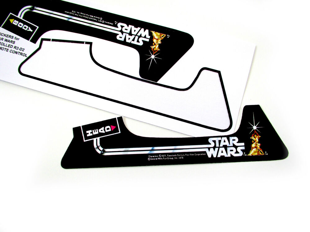 REPLACEMENT STICKERS FOR STAR WARS VINTAGE RADIO CONTROL
