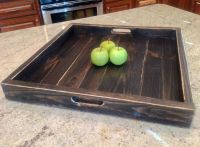 extra large ottoman tray reclaimed wood square