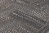 "SHAW Chevron Blur Touch of Gray Carpet Tiles 18"" x 36"" 