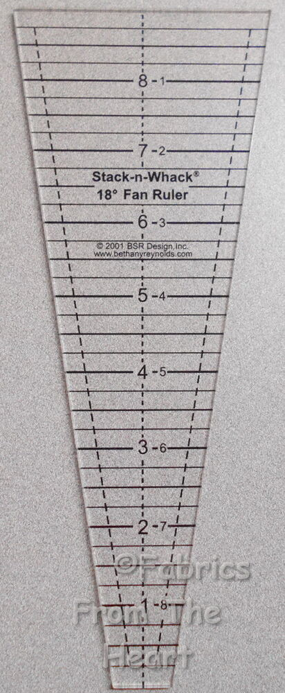 18 Degree Fan Stack N Whack Wedges Acrylic Template Ruler