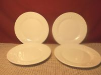 Totally Today Dinnerware All White Fans & Dots Design Set ...
