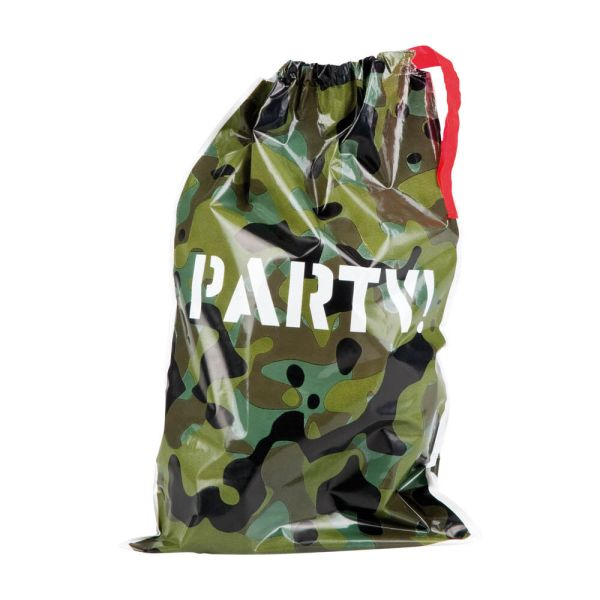 6 Green Brown Army Camouflage Party Plastic Favours