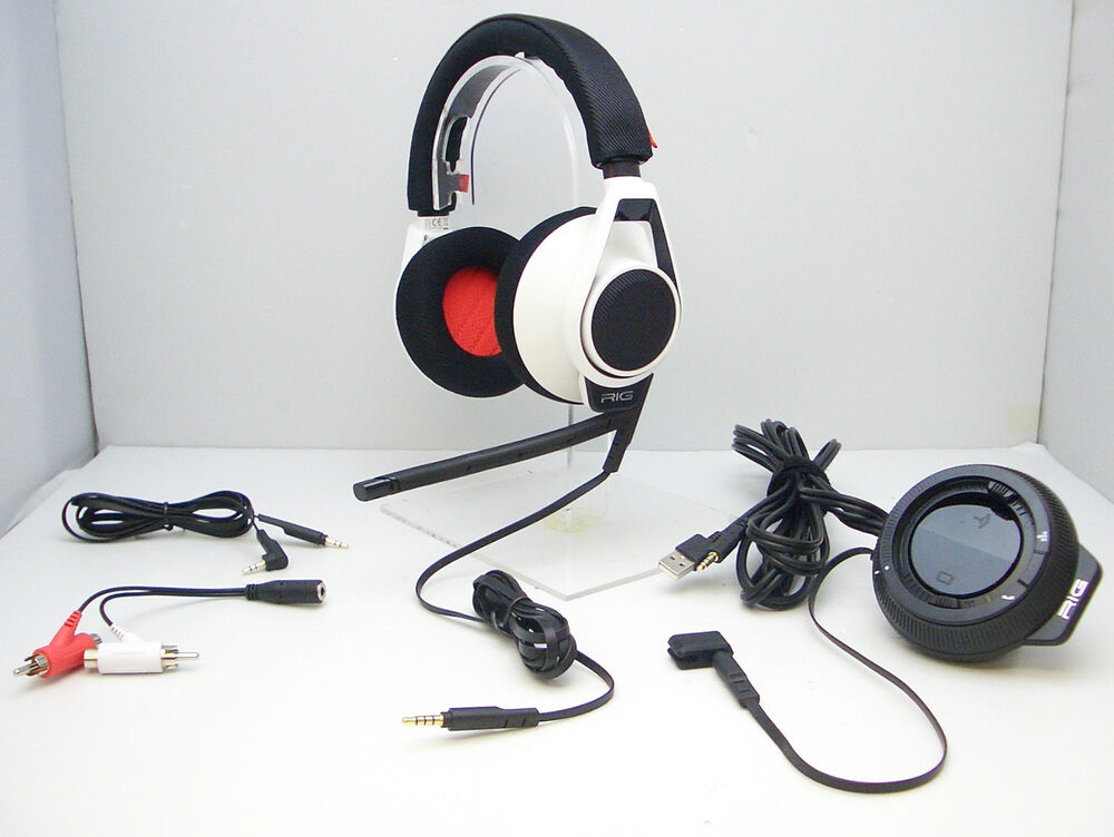 Plantronics RIG White Gaming Headset With Mixer For Xbox