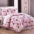 Paris chic eiffel tower french poodle teen girls pink comforter bed