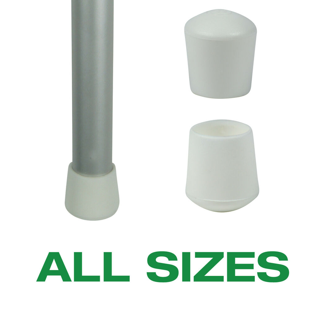 rubber chair protectors acrylic desk with wheels flexible plastic white ferrules for tables and legs end caps stoppers tips | ebay