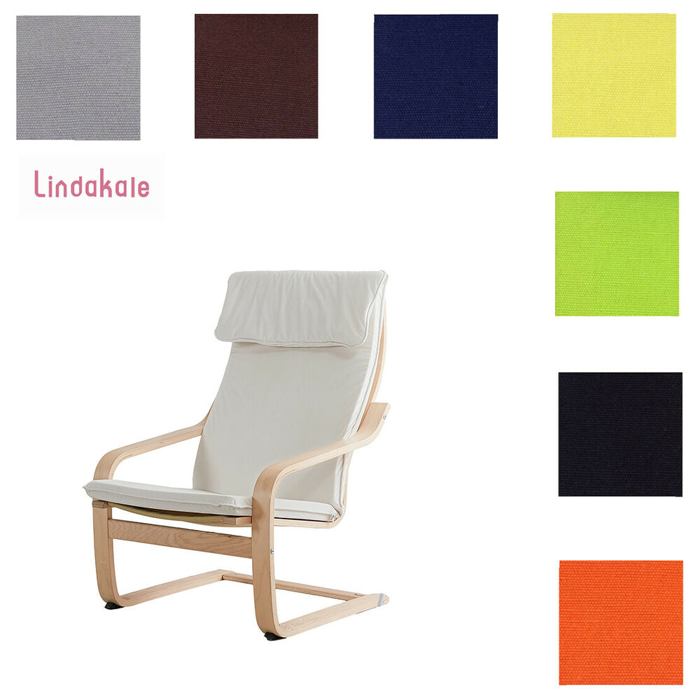 Custom Made Armchair Cover Fits IKEA Poang Chair Replace